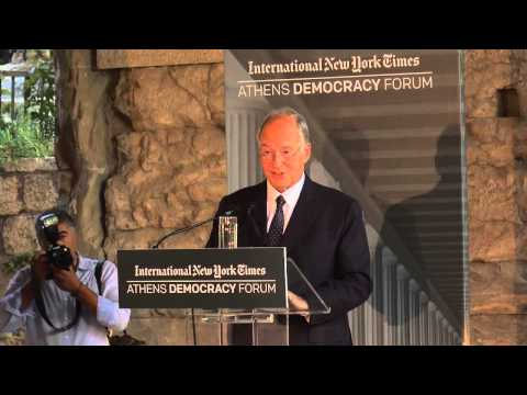 Aga Khan speaks on the challenges facing democracy at 2015 Athens Democracy Forum