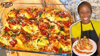 CHEESY Seafood Stuffed Shells Recipe |EASY & DELICIOUS|