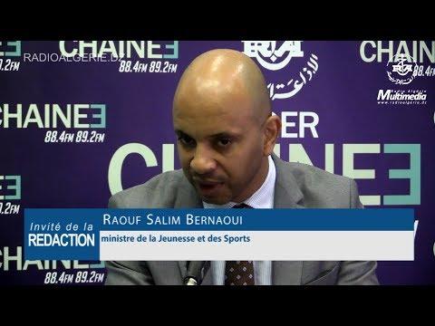 Raouf Salim Bernaoui Ministre de la jeunesse et du sport
