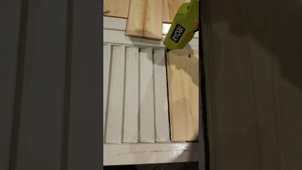 Shiplap Inspired Diy Closet Door Makeover Hometalk