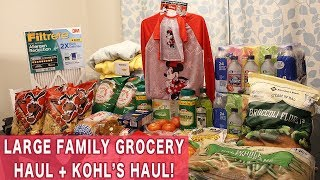 Large Family Grocery Haul: Sam's Club Grocery Haul PLUS a Fantastic Kohl's Haul!! Lots of Clearance!