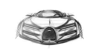 자동차 스케치 (BUGATTI Entry Type)