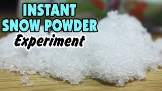 Amazing Science Experiments That You Can Do At Home - How To Make Instant Snow Powder