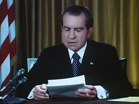 President Nixon's First Watergate Speech (April 30, 1973)