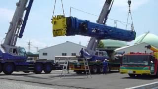 550tオールテレーンクレーンLTM-1550Nの分解、搬出