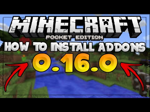 MCPE UPDATE 0.16.0 - HOW TO INSTALL ADDONS IN 0.16.0! - Minecraft PE (Pocket Edition)