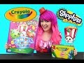 GIANT Shopkins Crayola Coloring Book   COLOR WITH KiMMi THE CLOWN