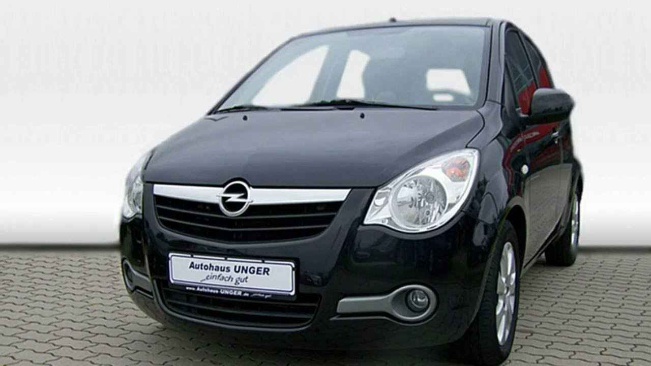 opel agila b 1 0 edition 385005 kosmosschwarz 2010 autohaus unger youtube. Black Bedroom Furniture Sets. Home Design Ideas