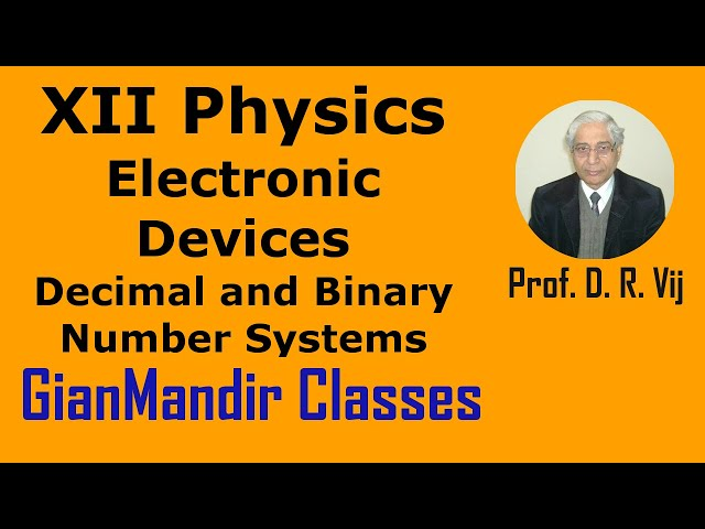 XII Physics | Electronic Devices | Decimal and Binary Number Systems by Poonam Ma'am