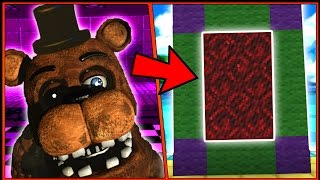 HOW TO MAKE A PORTAL TO THE BEST FNAF DIMENSION - MINECRAFT FIVE NIGHTS AT FREDDY'S