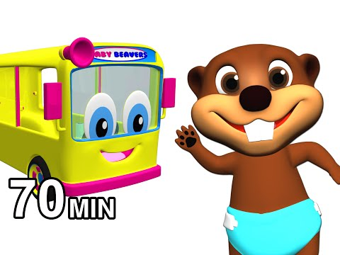Wheels on the Bus Collection | Kids Nursery Rhymes | Childrens 3D Animation by Busy & Baby Beavers