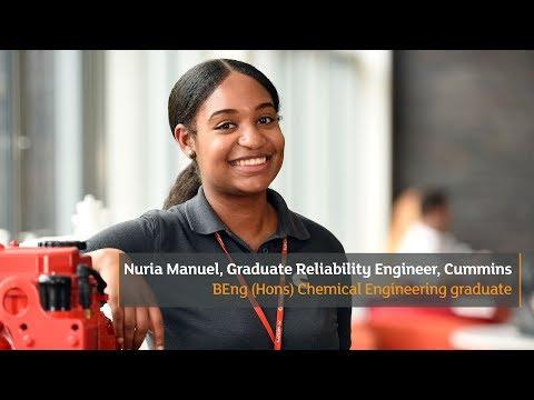Nuria Manuel, Graduate Reliability Engineer, Cummins