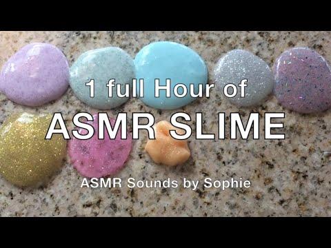 1 Full Hour of ASMR Slime (ASMR, slime, no talking, tingles, Youtube, video)