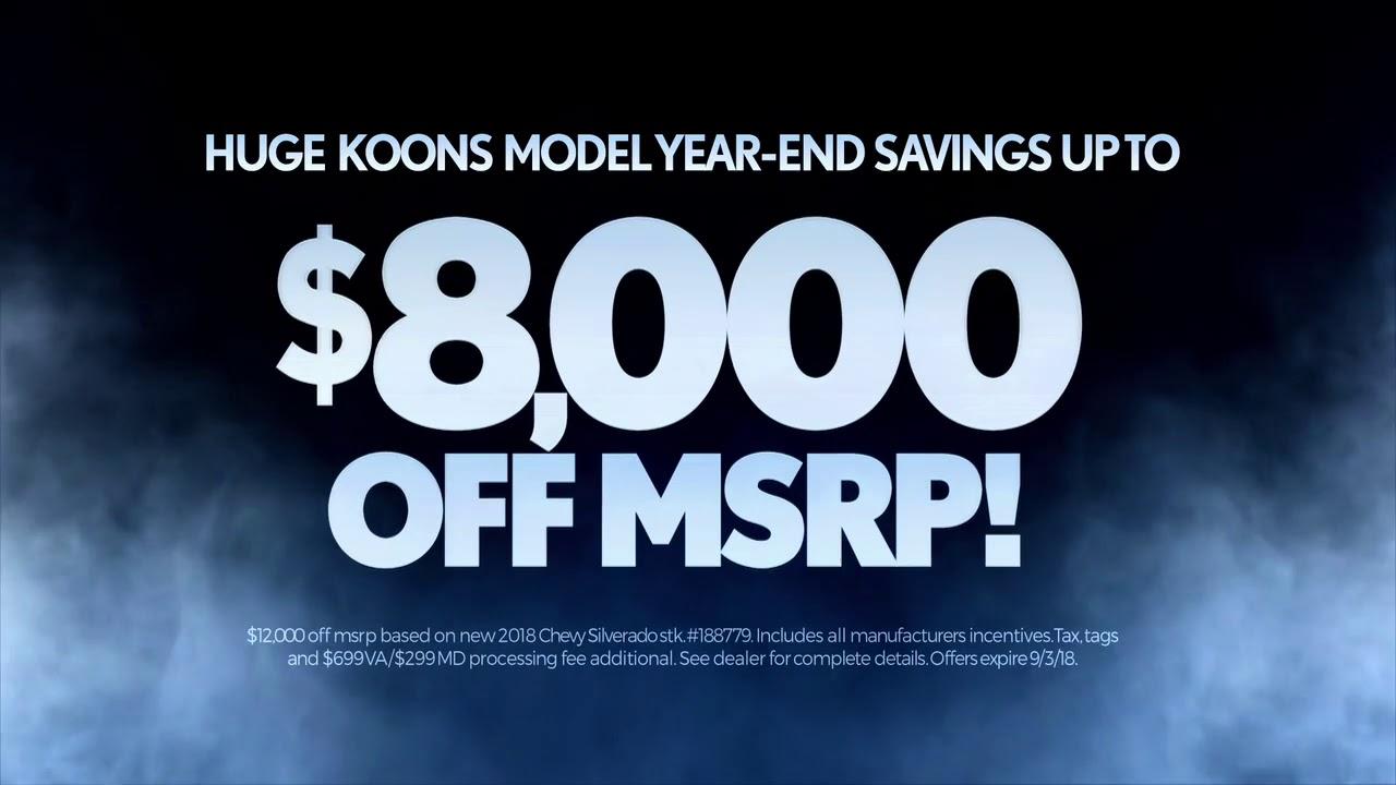 Model Year End Clearance Now Til Labor Day Koons White Marsh Chevrolet