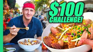 Vietnam $100 Street Food Challenge!! Best Street Food in Saigon!!!