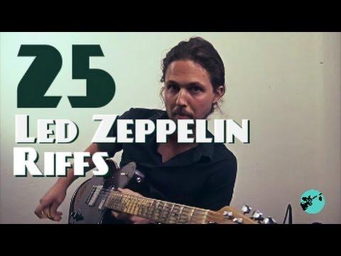 25 Led Zeppelin Riffs (In One Take)