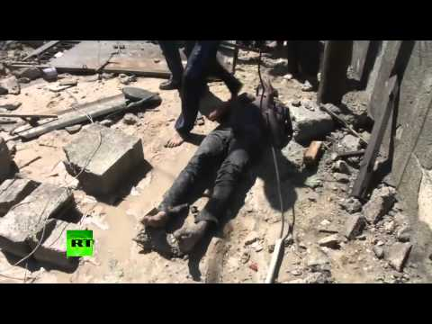 GRAPHIC: Bloody aftermath of Israeli airstrikes, Khan Younis, Gaza
