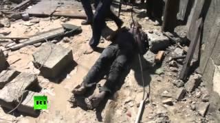 GRAPHIC: Bloody aftermath of Israeli airstrikes, Khan Younis, Gaza thumbnail