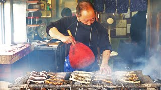 Day in the Life of a Grilled Eel Master - Japanese Street Food - How to fillet a fish