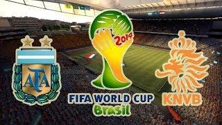 FIFA 2014 World Cup - Argentina vs Holanda (Quien llega a la gran final?)