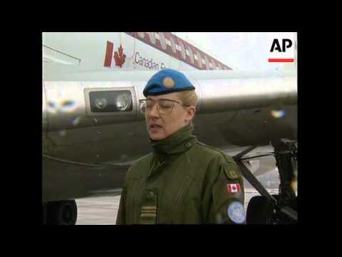CROATIA: CANADIAN INJURED PEACEKEEPERS RETURN HOME