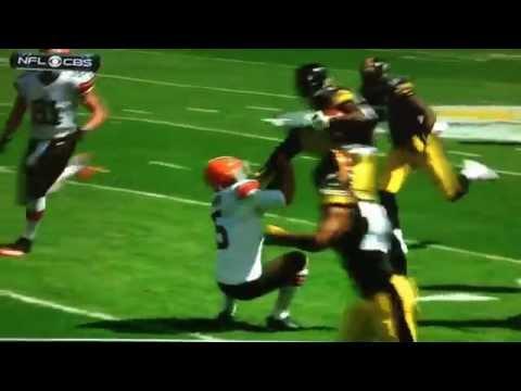 Antonio Brown Kicks Browns Punter