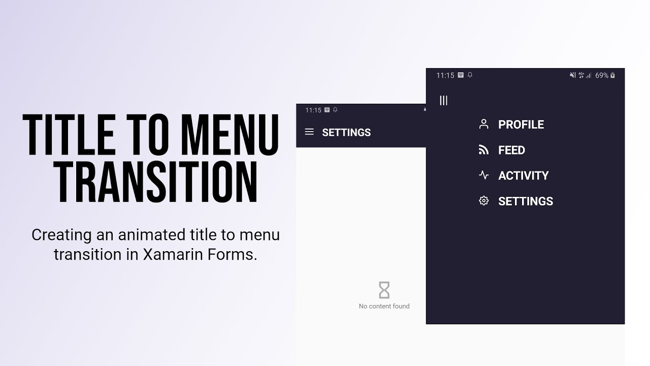 Menu Transition in Xamarin Forms | Custom Title View in Xamarin Forms