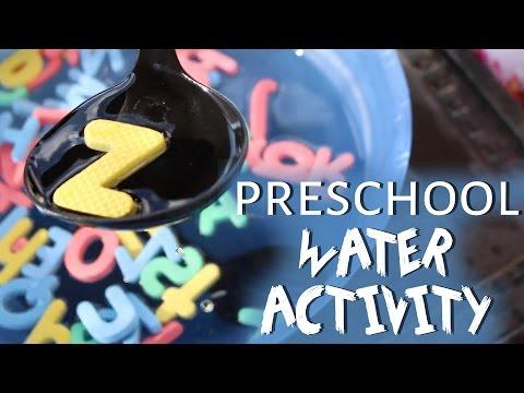 DIY Kids Water Activity: Alphabet Soup