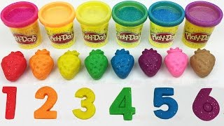 Learn Colors and Numbers Play Doh Strawberry Ice Cream Peppa Pig Mold Baby Fun and Creative for Kids
