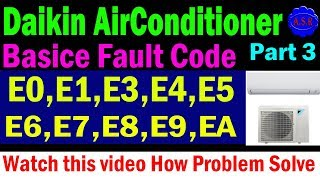 Download Dc Inverter Ac Indoor Error Codes E1 E2 E4 E7and