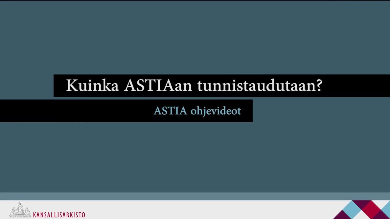 Kansallisarkisto Astia