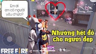 [Free Fire] Meow Làm Người Tốt Nhường Hết Đồ Cho Cô Gái Gạ Team Up | Meow DGame