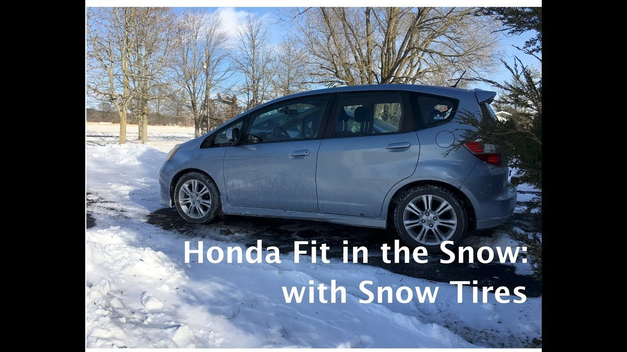 honda fit   snow  snow tires youtube