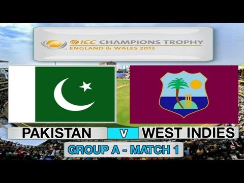 (Cricket Game) ICC Champions Trophy - Pakistan v West Indies (Group A Match 1)
