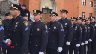 Hundreds of Police Officers from multiple police departments came t...