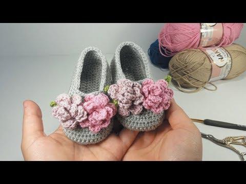 HARİKA BEBEK PATİĞİ ÇİÇEK YAPIMI, Free Crochet Patterns Tutorial