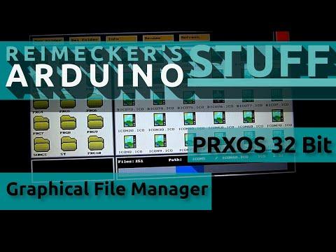 PrXoS 32 //  Graphical file manager for Arduino Due // Apr. 2018
