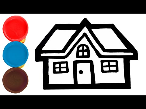 Play Doh & Coloring And Drawing Toy House|Clay Art With Crayon For Childrens - Lulu Kids Art