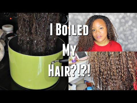 I BOILED MY SYNTHETIC WIG... AND THIS IS WHAT HAPPENED!