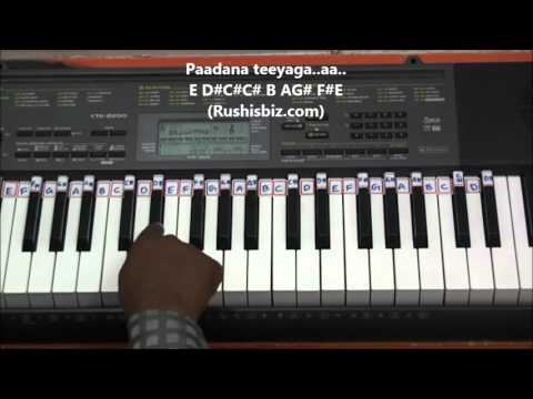 O Paapa Laali (Piano Tutorial) - Geetanjali (Telugu)