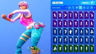 PASTEL SKIN SHOWCASE WITH ALL FORTNITE DANCES & EMOTES