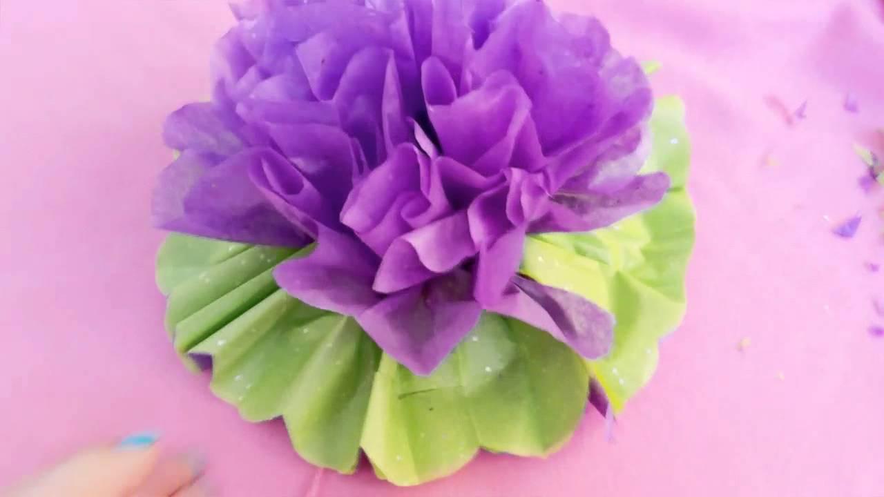 C mo hacer flores de papel crepe youtube - Videos de como hacer crepes ...