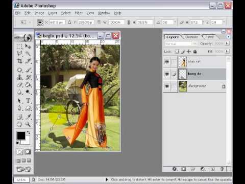 Photoshop CS2 - Phần 2 - Bài 3 - Tạo bóng đổ (shadow)