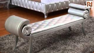 Monte Carlo Platinum Leatherette Bench   Vgkcmonte-bench-plat From Vig Furniture