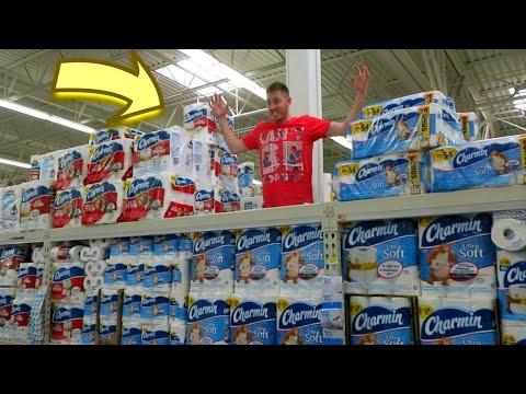 Triple Decker Toilet Paper Fort!