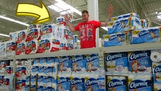 Triple Decker Toilet Paper Fort!