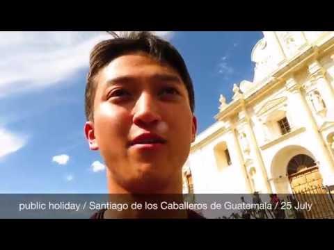 Dancer × Backpacker Shimon owaki , World travel 13 in Antigua  / Guatemala (HD)