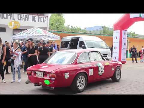 Rally de la carrera  Panamericana en Chapa de Mota