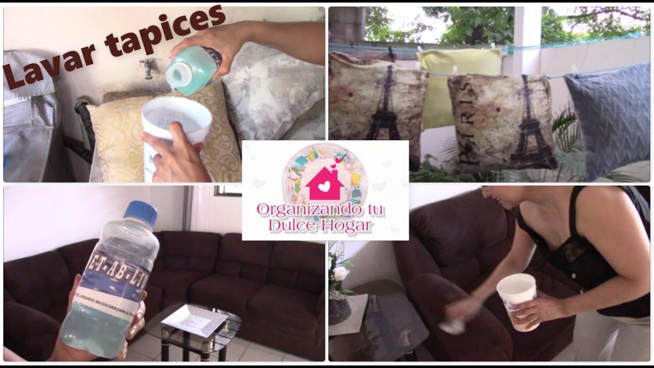 Cómo lavo los cojines y sofás