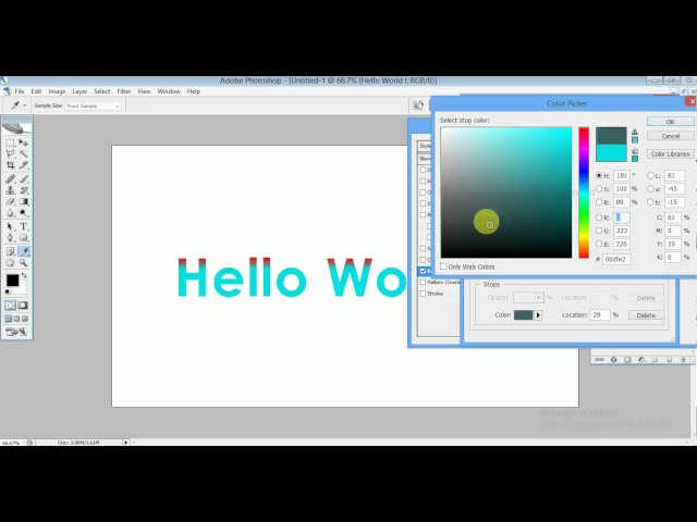 How to fill gradient Color to Text in Photoshop Best Photoshop tutorial by Ujjaval